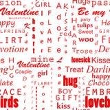 Seamles-Valentinsgruß-Texthintergrund stockfotografie