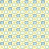 Seamlespatroon met gele en blauwe ovalen Royalty-vrije Stock Foto