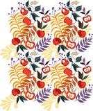 seamless äpple royaltyfri illustrationer