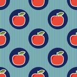 seamless äpple Sömlös textur med mogna röda äpplen vektor illustrationer