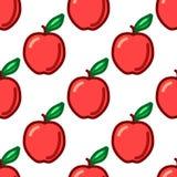 seamless äpplemodell Höst symbol för sommartappningdesign Vektorfruktillustration vektor illustrationer
