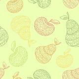 seamless äpplemodellpear stock illustrationer