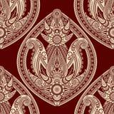 seamless östlig stil paisley Royaltyfria Bilder