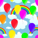 Seamless. From balloons and rainbows Royalty Free Stock Images