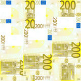 Seamless 200 Euro's. Seamlessly tileable 200 Euro's background Royalty Free Stock Photos