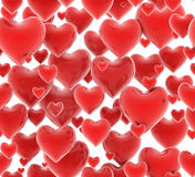Seamless 3d hearts pattern Royalty Free Stock Photos