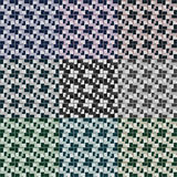 Seamless 3d squares vector patterns. In nine color variations Stock Images