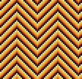 Seamless 60s Retro Zigzag Pattern Warm Stock Photo