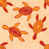 Seamless Aboriginal Design Stock Image