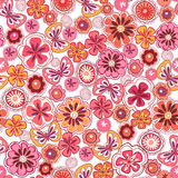 Seamless abstrac floral  background. Seamless red abstrac floral  background Royalty Free Stock Photo