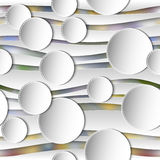 Seamless Abstract 3D White Spheric Background Stock Photo
