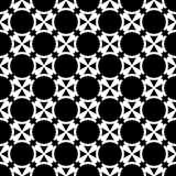 Seamless abstract art black white pattern. Vector illustration Stock Photos