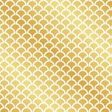 Seamless abstract Art Deco gold leaf pattern. Background royalty free illustration