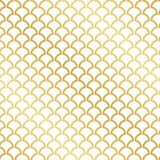 Seamless abstract Art Deco gold leaf pattern. Background stock illustration