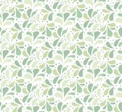 Seamless Green Floral Pattern. Vector Ornament Background. Abstract Vintage Texture. Seamless Abstract Art Deco Pattern. Vector Floral Background. Ornament Stock Illustration