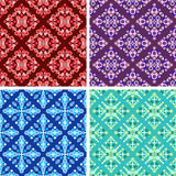 Seamless abstract art pattern set. Seamless colored abstract art pattern set vector illustration