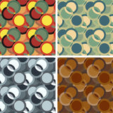 Seamless abstract art pattern set. Seamless colored abstract art pattern set Royalty Free Stock Photo