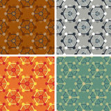 Seamless abstract art pattern set. Seamless colored abstract art pattern set Stock Image
