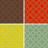Seamless abstract art pattern set. Seamless colored abstract art pattern set Royalty Free Stock Photography