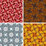 Seamless abstract art pattern set. Seamless colored abstract art pattern set Stock Photos