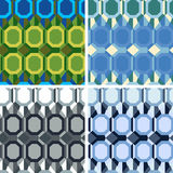 Seamless abstract art pattern set. Seamless colored abstract art pattern set Royalty Free Stock Image