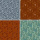 Seamless abstract art pattern set Royalty Free Stock Photo