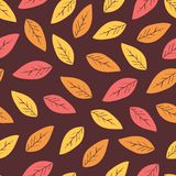 Seamless abstract autumn background with leaves.Vector background. Seamless abstract autumn ackground with leaves. Vector background with red, orange and yellow vector illustration