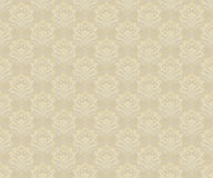 Seamless abstract background. Seamles background - abstract flowers. Vector illustration in beige colors Stock Images