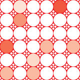 Seamless abstract background. Vector illustration with red and white dots Vector Illustration