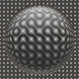 Seamless abstract background. With labyrinth surface and 3D spheroid Stock Photography