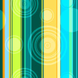 Seamless abstract background. With strips and circles stock illustration