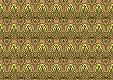 Seamless abstract background in beige and yellow tones. Seamless abstract backdrop with ornament from repeated patterns in beige and yellow tones, colorful Royalty Free Stock Image