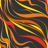 Seamless abstract background. Black and orange wave. Illustration in vector format Royalty Free Stock Photos
