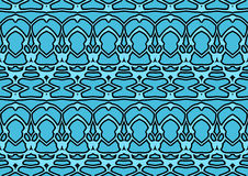 Seamless abstract background in blue and black tones. Seamless abstract backdrop with ornament from repeated patterns in blue and black tones, colorful Stock Photos