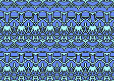 Seamless abstract background in blue and black tones. Seamless abstract backdrop with ornament from repeated patterns in blue and black tones, colorful Stock Photography
