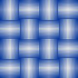 Seamless abstract background with blue checker patterns in metallic design, 3d optical art illusion. Vector EPS 10 Royalty Free Stock Image