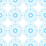 Seamless abstract background with blue geometric shapes. White background. Delicate image Stock Images