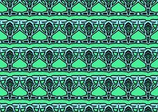 Seamless abstract background in blue and green tones. Seamless abstract backdrop with ornament from repeated patterns in blue and green tones, colorful Stock Image