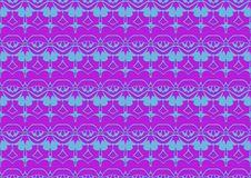 Seamless abstract background in blue and purple tones. Seamless abstract background with ornament from repeated patterns in blue and purple tones stock illustration