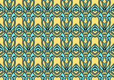 Seamless abstract background in blue and yellow tones. Seamless abstract backdrop with ornament from repeated patterns in blue and yellow tones, colorful Stock Photos