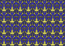 Seamless abstract background in blue and yellow tones. Seamless abstract backdrop with ornament from repeated patterns in blue and yellow tones, colorful vector illustration