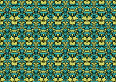 Seamless abstract background in blue and yellow tones. Seamless abstract backdrop with ornament from repeated patterns in blue and yellow tones, colorful royalty free illustration