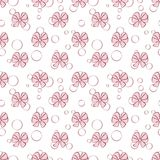 Seamless background with bows. Vector Pattern. Seamless abstract background with bows. Vector Pattern Stock Photos