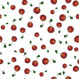 Seamless abstract background with cherry berries Stock Photography
