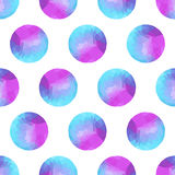 Seamless abstract background of colorful circles, polygonal desi Stock Photography