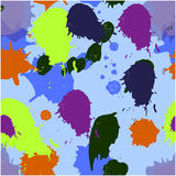 Seamless abstract background. With colorful ink blots Stock Images