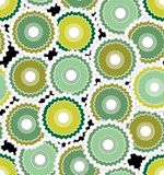 Seamless abstract background composed from green cogwheel Stock Image