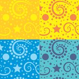 Seamless abstract background. A seamless abstract festive background in different options Stock Images