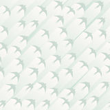 Seamless abstract background flock of birds. Vector seamless abstract background flock of birds with stripes of light behind (pale blue tone Vector Illustration