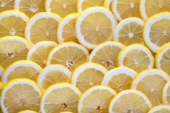 Seamless abstract background of fresh sliced lemon. Stock Photo